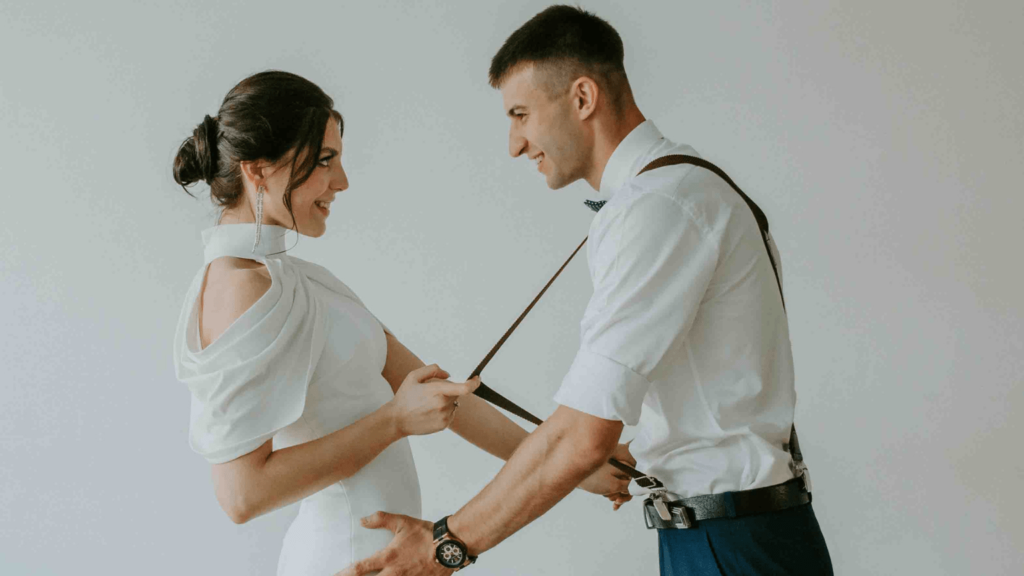 belarusian couple who just got married