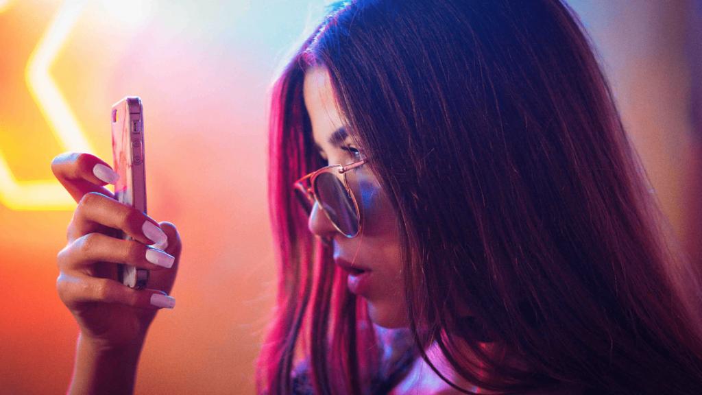 ukrainian girl using phone